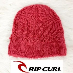 Rip Curl Pink Fuchsia Beanie Hat Wool One Size